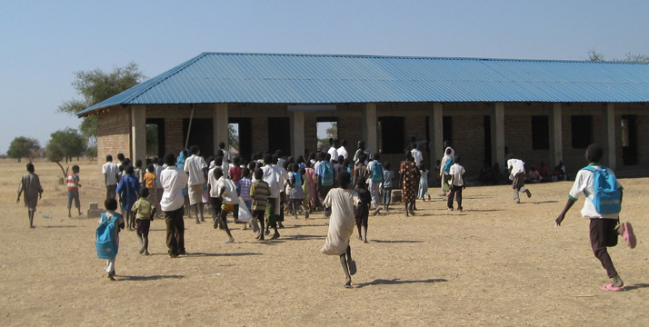 Raising South Sudan school building