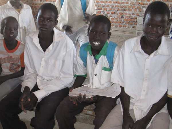 Students in South Sudan