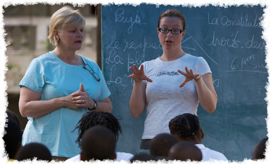 Project Catalyst Lauren James teaches in Tovar, Haiti